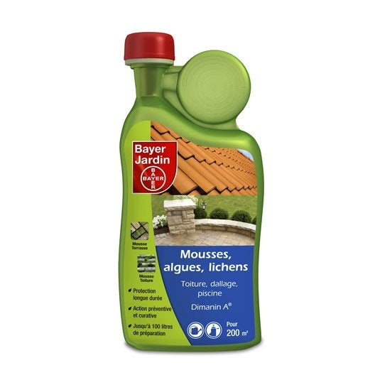 anti mousse algues et lichens bayer 1l leroy merlin. Black Bedroom Furniture Sets. Home Design Ideas
