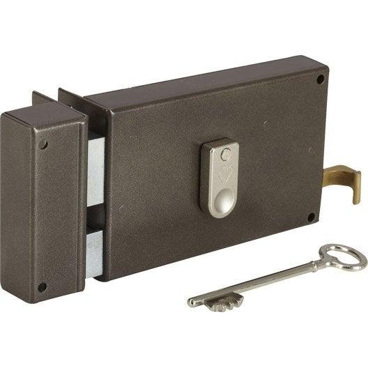 serrure en applique vachette axe 55 mm tirage ouverture gauche leroy merlin. Black Bedroom Furniture Sets. Home Design Ideas