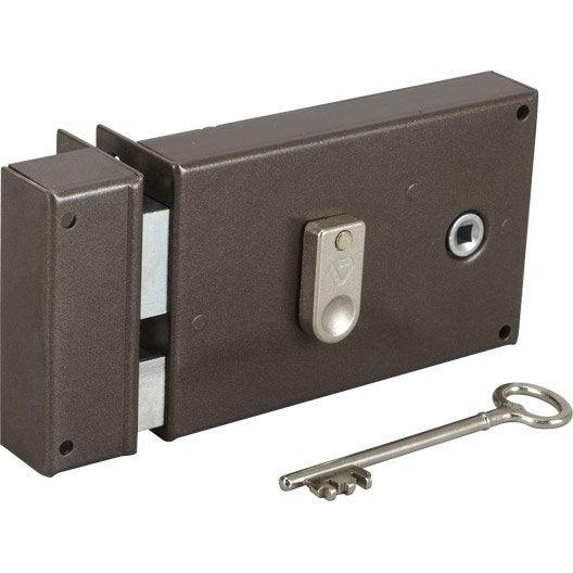 serrure en applique vachette axe 55 mm poign e ouverture gauche leroy merlin. Black Bedroom Furniture Sets. Home Design Ideas