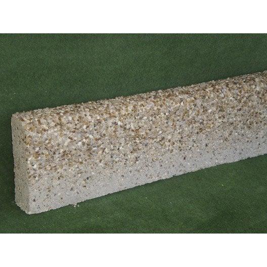 bordure droite béton ton pierre, h.20 x l.100 cm | leroy merlin