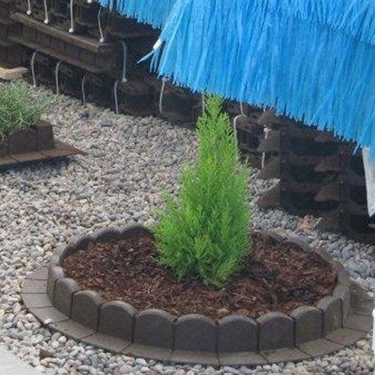 Bordure courbe plastique gris x cm leroy merlin - Bordure plastique de jardin ...