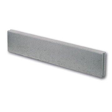 Bordure droite béton gris, H.20 x L.100 cm