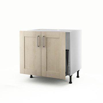 meuble de cuisine blanc delinia ines leroy merlin. Black Bedroom Furniture Sets. Home Design Ideas