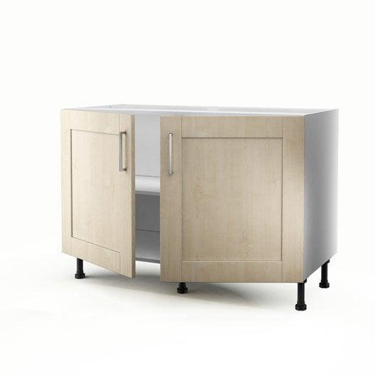 Meuble de cuisine sous vier blanc 2 portes ines - Amenagement meuble sous evier ...
