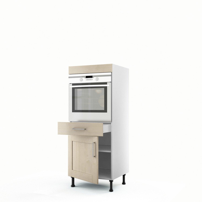 demi colonne blanc four 1 porte 1 tiroir ines x. Black Bedroom Furniture Sets. Home Design Ideas