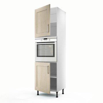 Meuble de cuisine blanc delinia ines leroy merlin for Porte cuisine 60 x 40