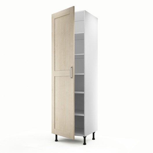 meuble de cuisine colonne blanc 1 porte ines x x cm leroy merlin. Black Bedroom Furniture Sets. Home Design Ideas