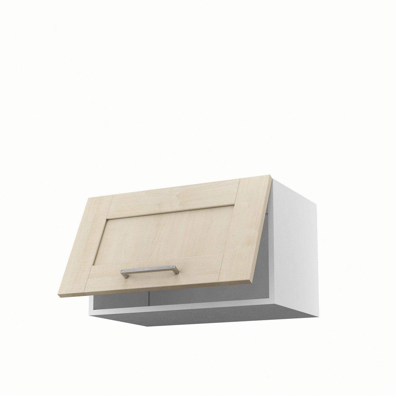 Meuble de cuisine haut blanc 1 porte ines x x p for Porte 60 avis