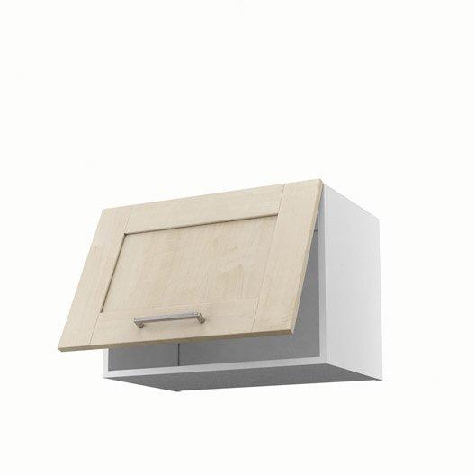 Meuble de cuisine haut sur hotte blanc 1 porte ines x for Meuble sur hotte ikea