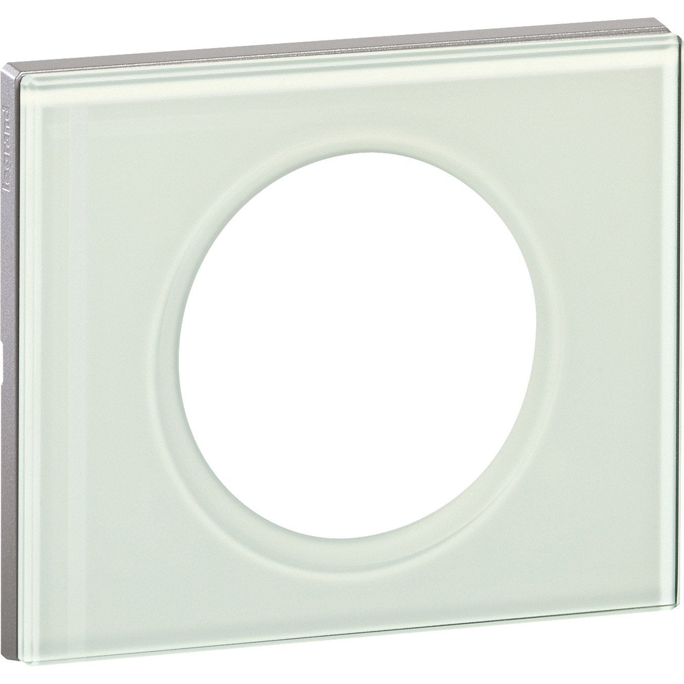 plaque simple c liane legrand verre kaolin leroy merlin. Black Bedroom Furniture Sets. Home Design Ideas