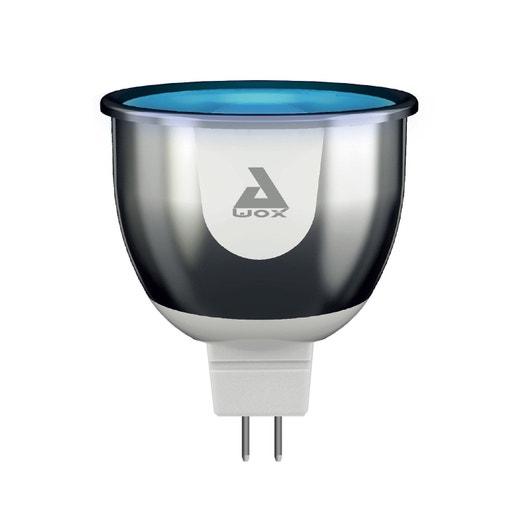 ampoule connect e led changement de couleurs 4w gu5 3 100 smartlight awox leroy merlin. Black Bedroom Furniture Sets. Home Design Ideas