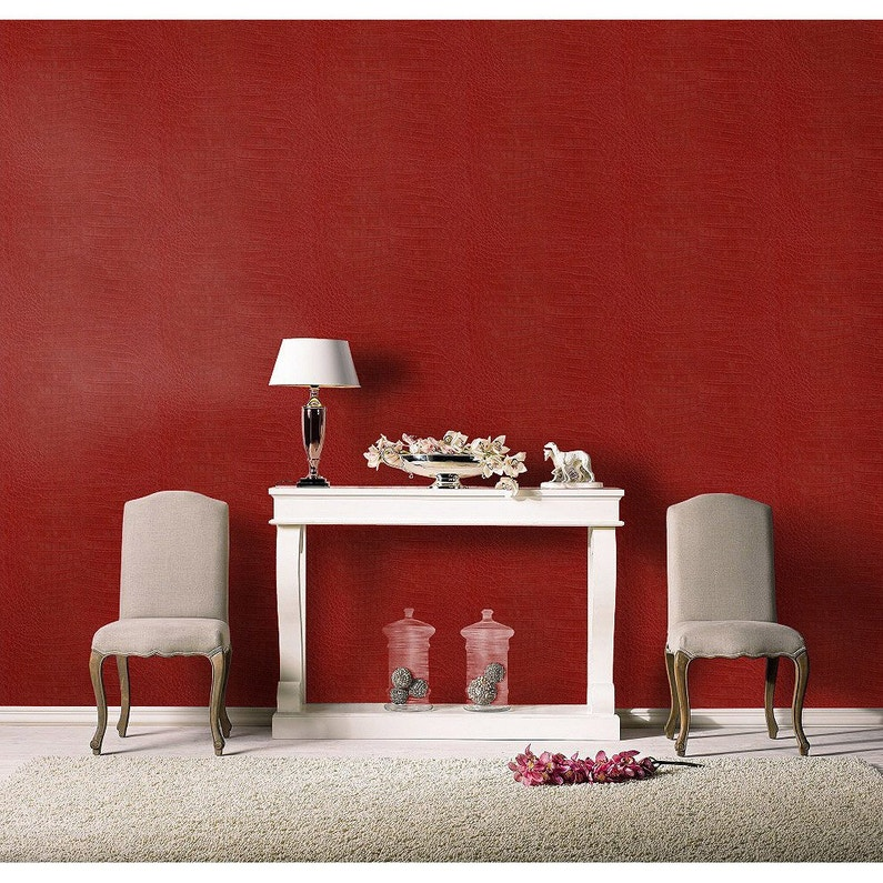 papier peint intiss crocodile rouge leroy merlin. Black Bedroom Furniture Sets. Home Design Ideas