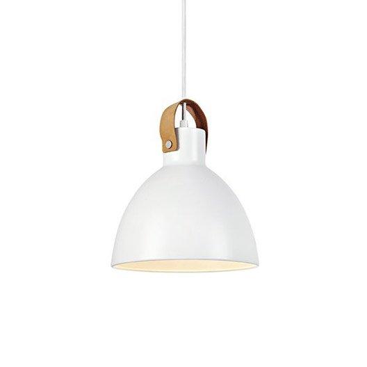 suspension scandinave eagle m tal blanc 1 x 60 w markslojd leroy merlin. Black Bedroom Furniture Sets. Home Design Ideas
