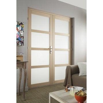 Porte int rieur et bloc porte menuiserie int rieure porte vitr e porte bois leroy merlin - Double porte vitree interieure ...