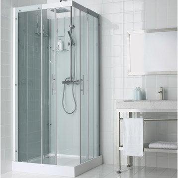 Cabine de douche carré 90x90 cm, Thalaglass 2 thermo
