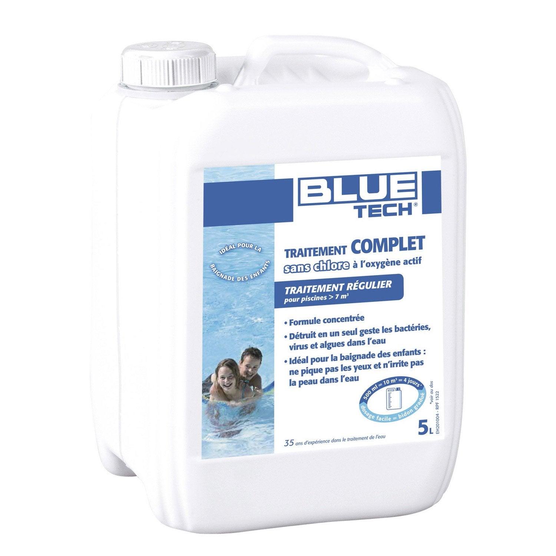 Oxyg ne actif piscine blue tech traitement sans chlore 5l pisc hors sol liquide leroy merlin - Traitement piscine oxygene actif ...