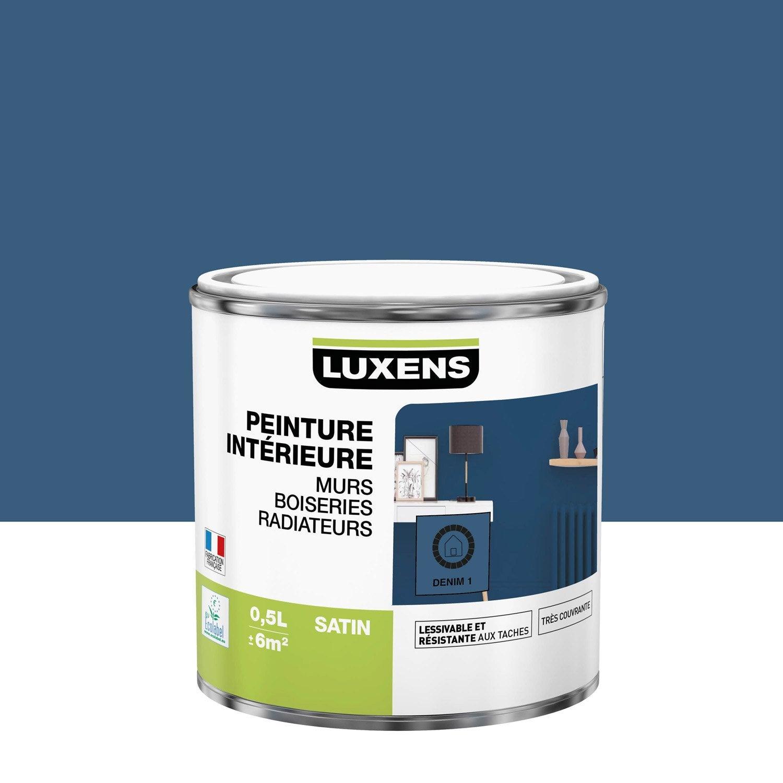 Peinture mur, boiserie, radiateur Multisupports LUXENS, denim 1, 0.5 l, satin