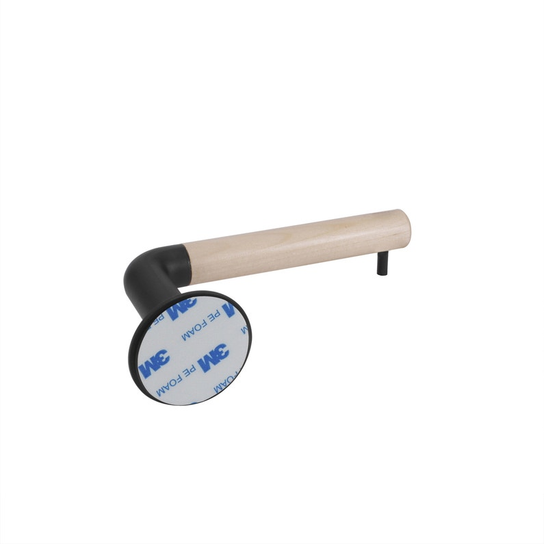 Dérouleur à Papier Wc Aluminium Sans Couvercle Black N0 Scandi