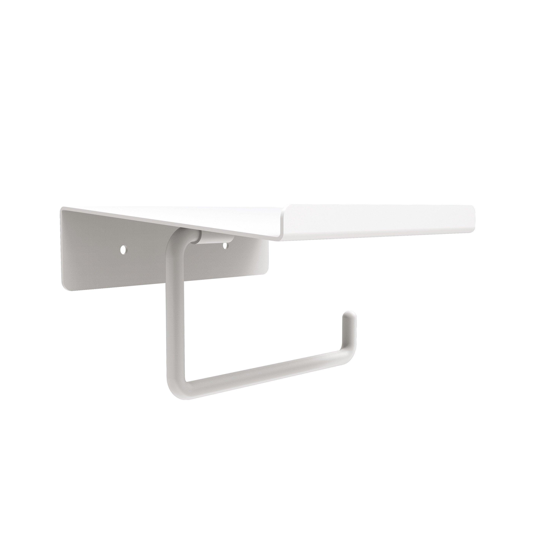 Dérouleur Papier Wc Metal dérouleur à papier wc métal avec tablette, blanc