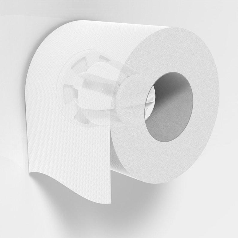 Dérouleur Papier Toilette Plastique Sans Couvercle Blanc Hidden