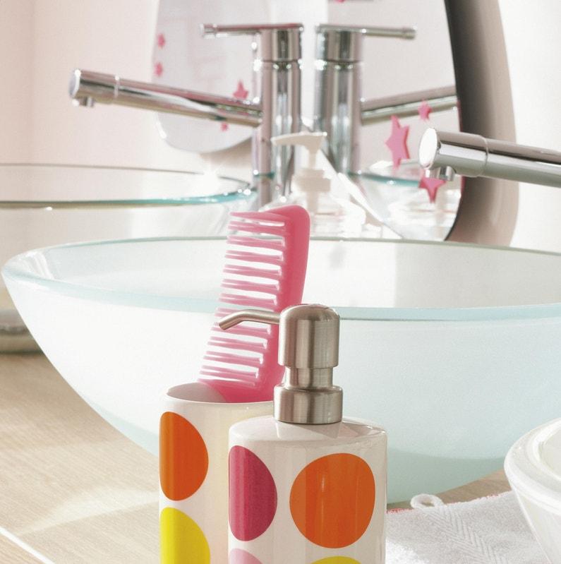 Vasque à Poser Verre Diam395 Cm Transparent Luna Leroy Merlin