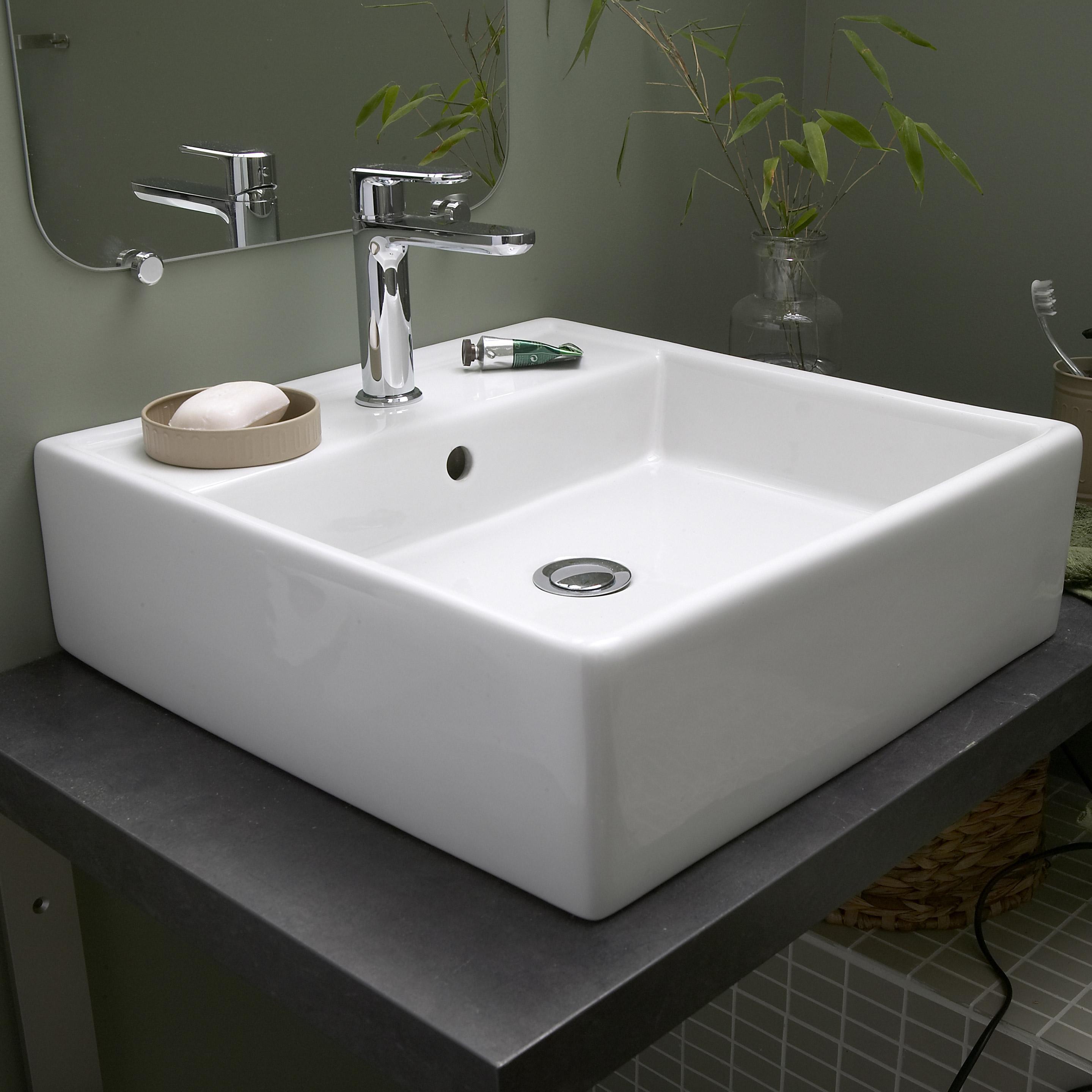 Vasque À Céramique 46 Cm Blanc L P Edge Poser 46 X qpUGzMSV