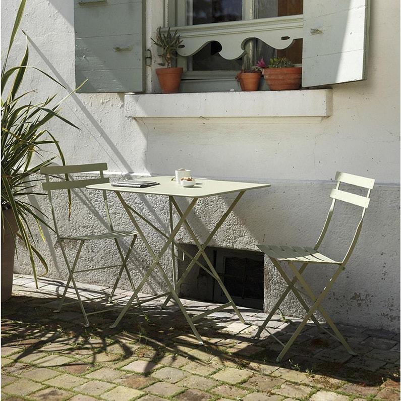 Table de jardin de repas FERMOB Bistro rectangulaire tilleul 2 personnes
