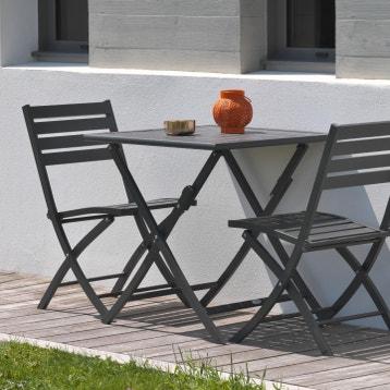 Table De Jardin Resine Gris Anthracite Sorrento au meilleur ...