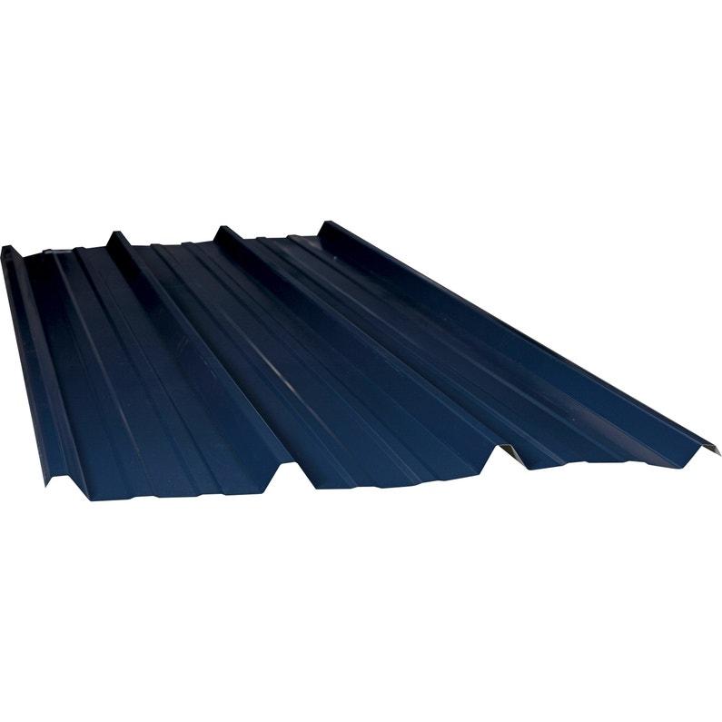 Plaque De Toiture Nervurée Acier Galvanisé Bleu L105 X L2 M Ondometal