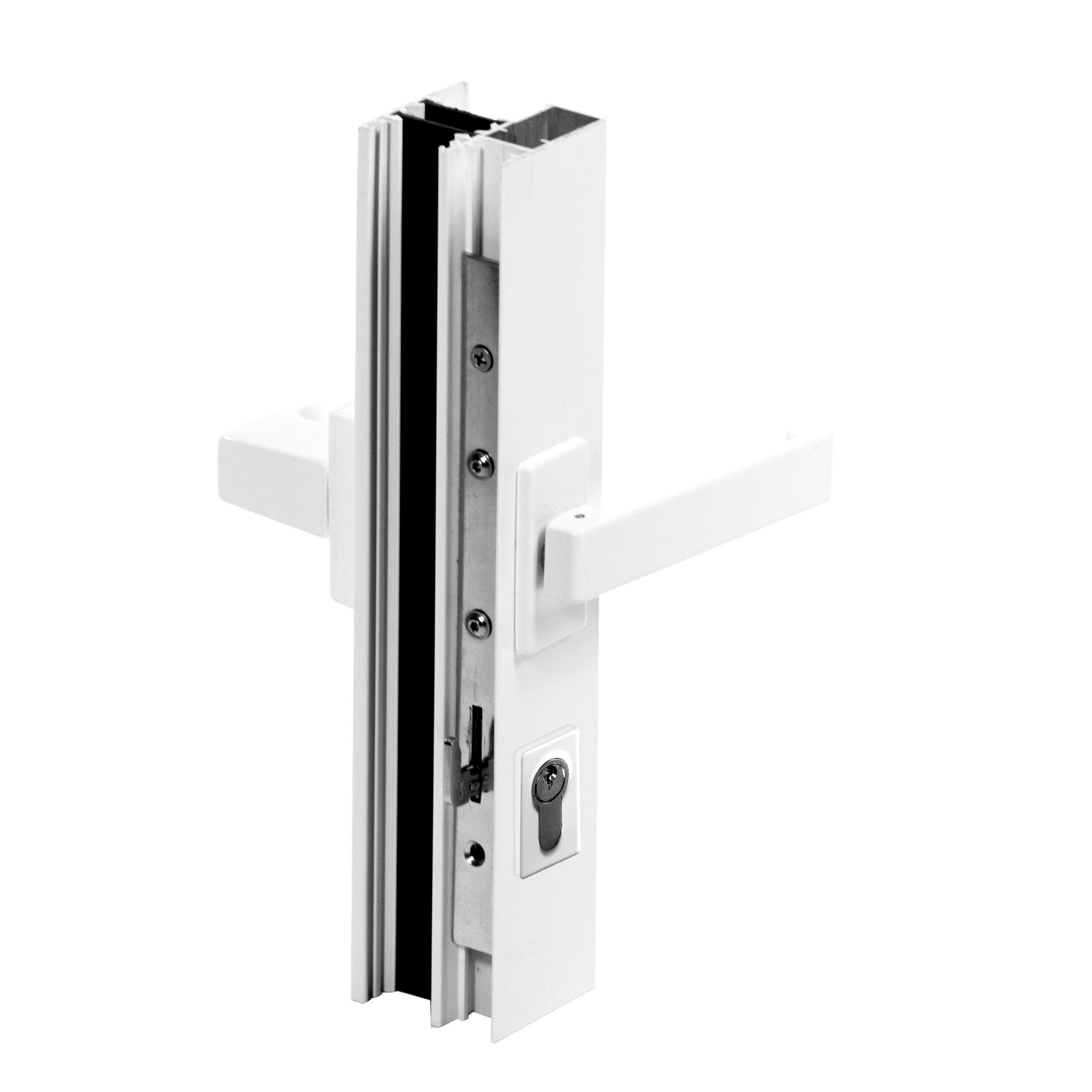 Baie Vitrée Aluminium Blanc Brico Premium H215 X L240 Cm