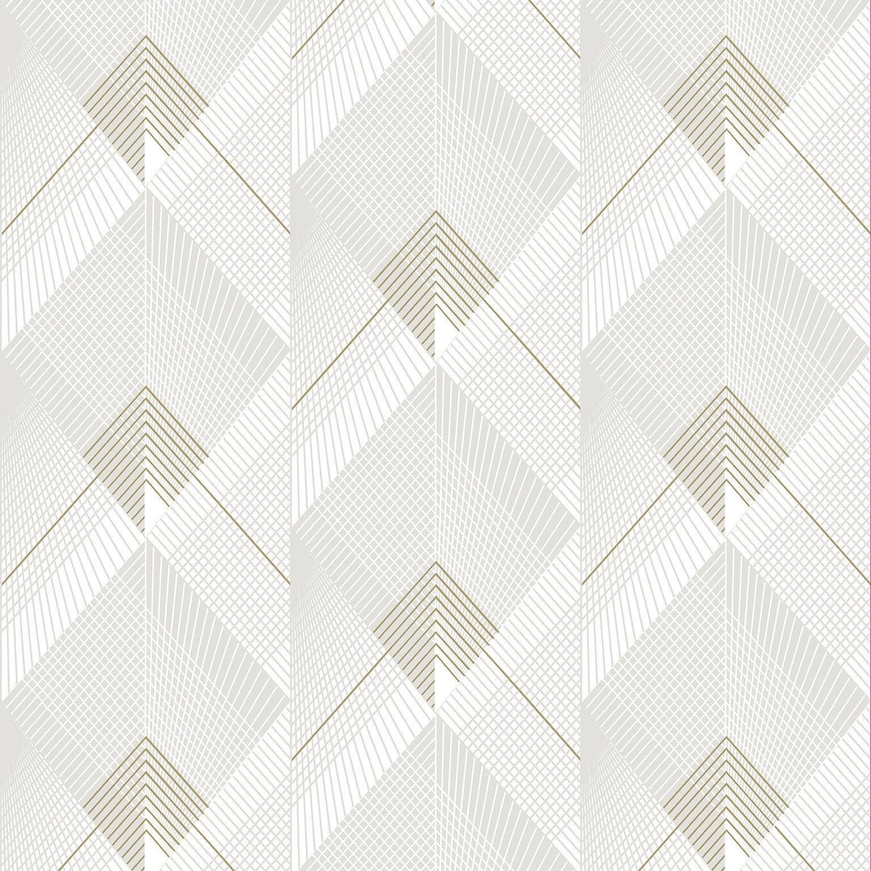 Papier Peint Art Deco Blanc papier peint intissé galactik geo art deco blanc or