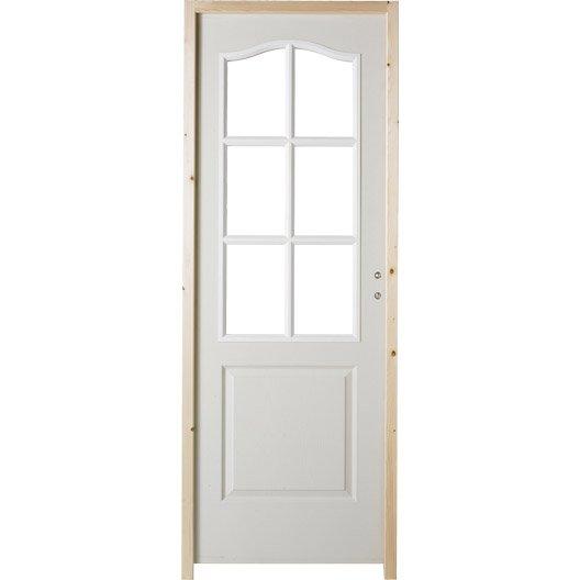 Porte int rieur et bloc porte menuiserie int rieure for Porte interieure vitree 83 cm