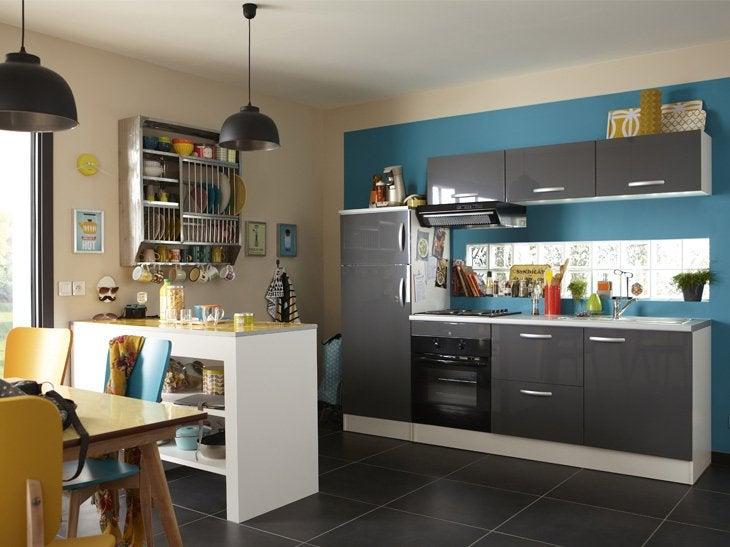 lyra noir cuisine quip e tout inclus 303 cm achat of cuisine toute equipee avec electromenager. Black Bedroom Furniture Sets. Home Design Ideas
