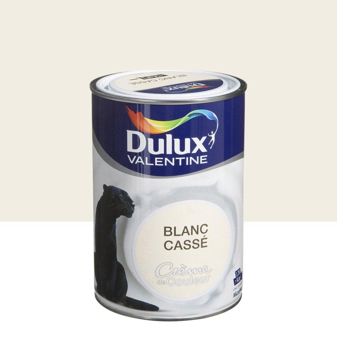 peinture blanc cass satin dulux valentine cr me de couleur l leroy merlin. Black Bedroom Furniture Sets. Home Design Ideas