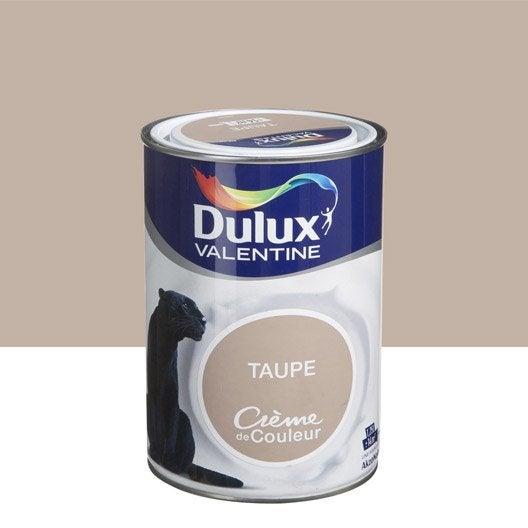 Peinture brun taupe dulux valentine cr me de couleur l leroy merlin for Peinture couleur figue
