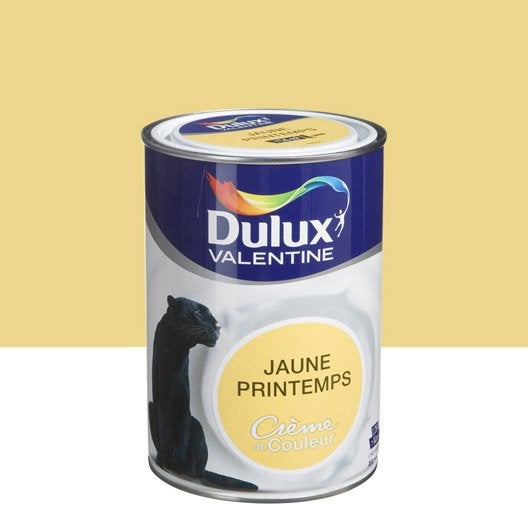 peinture jaune printemps dulux valentine cr me de couleur. Black Bedroom Furniture Sets. Home Design Ideas