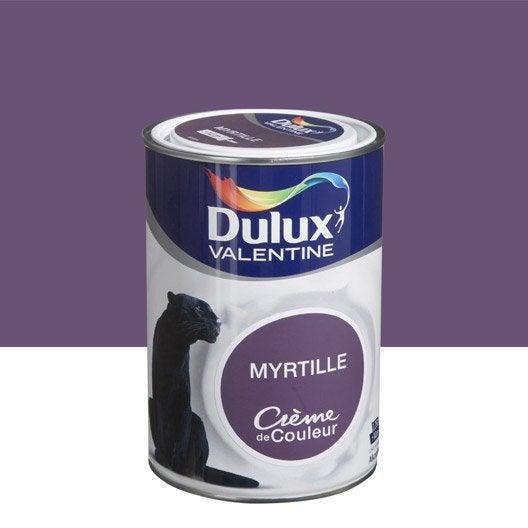 peinture violet myrtille dulux valentine cr me de couleur l leroy merlin. Black Bedroom Furniture Sets. Home Design Ideas