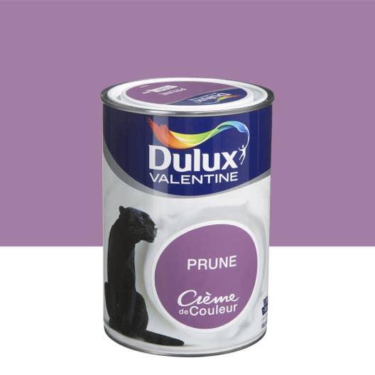 peinture violet prune satin dulux valentine cr me de couleur l leroy merlin. Black Bedroom Furniture Sets. Home Design Ideas