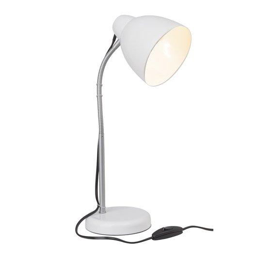 Lampe de bureau poser blanc lone brilliant leroy merlin - Lampe a poser leroy merlin ...
