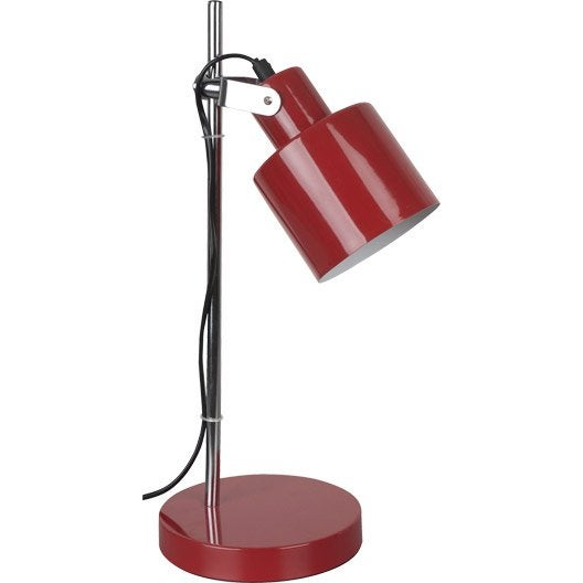 Lampe De Bureau Poser Rouge Vintage Leroy Merlin