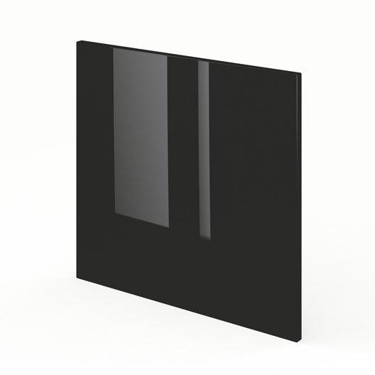 porte pour lave-vaisselle de cuisine noir rio, l.60 x h.55 cm