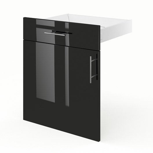 Porte tiroir de meuble de cuisine fd60 delinia rio for Meuble cuisine 55 cm