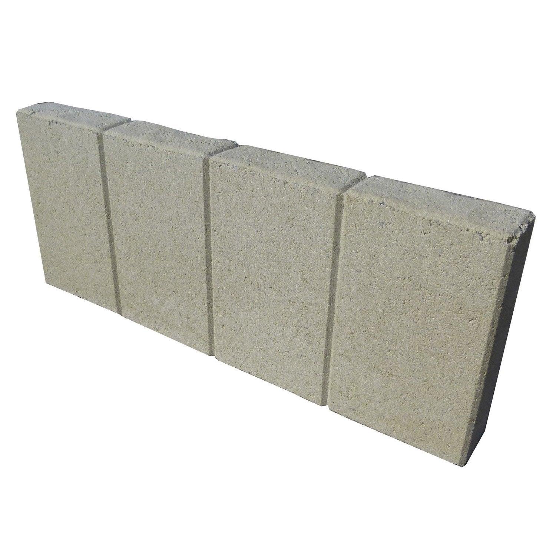 Bordure droite quadra b ton ton pierre x cm - Bordure de jardin pierre reconstituee ...