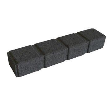 Bordure droite Seine pierre reconstituée noir, H.7.5 x L.50 cm