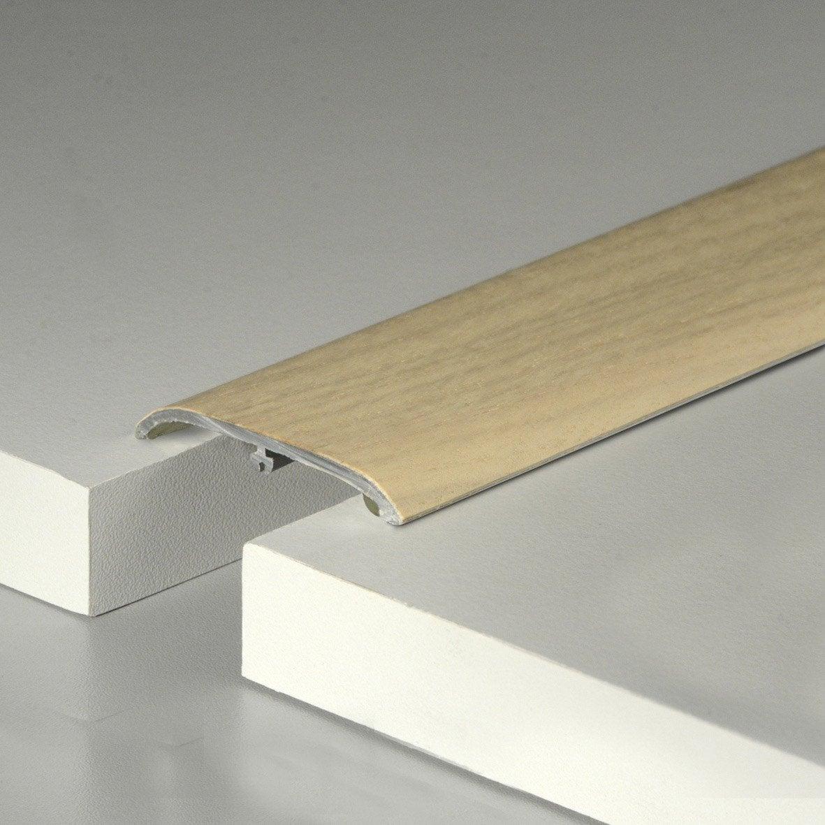 barre de seuil plaquée chêne naturel pour parquet, l.160 cm x l.47