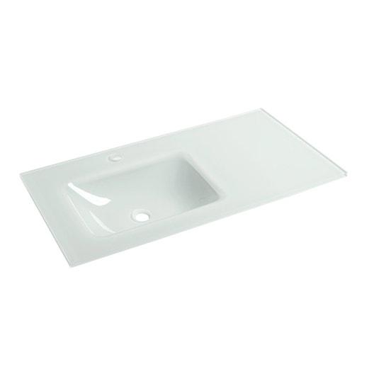 plan vasque simple ice verre 91 cm leroy merlin. Black Bedroom Furniture Sets. Home Design Ideas
