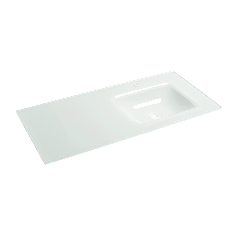 plan vasque simple ice verre 106 cm leroy merlin. Black Bedroom Furniture Sets. Home Design Ideas