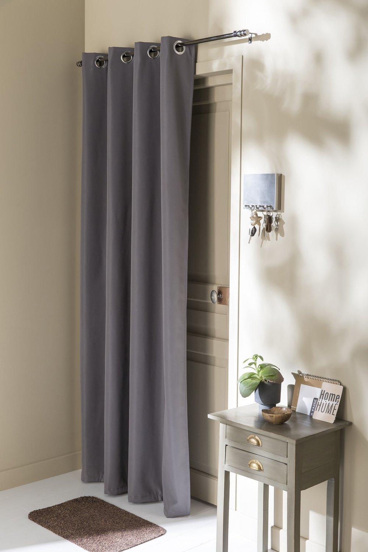 Une porte d\'entrée avec un rideau anti-froid | Leroy Merlin