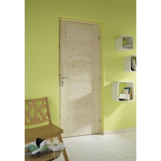 bloc porte sapin horizon artens x cm poussant droit leroy merlin. Black Bedroom Furniture Sets. Home Design Ideas