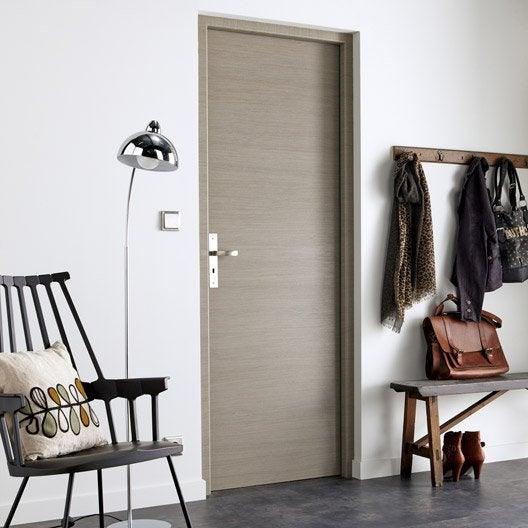 porte sans b ti mdf rev tu d cor ch ne fum gris londres. Black Bedroom Furniture Sets. Home Design Ideas